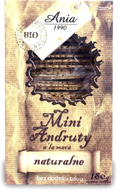 BIO ANIA (ciastka, muffiny, wafle) ANDRUTY MACA NATURALNE BEZ DODATKU CUKRÓW BIO 180 g