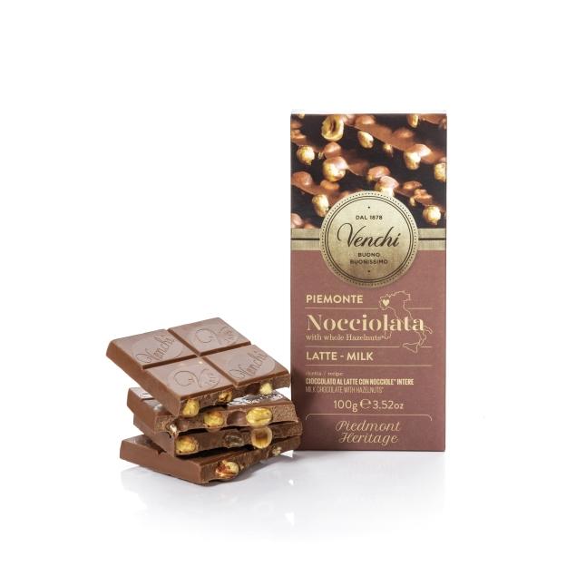 VENCHI MILK CHOCOLATE WITH HAZELNUT BAR NOCCIOLATA