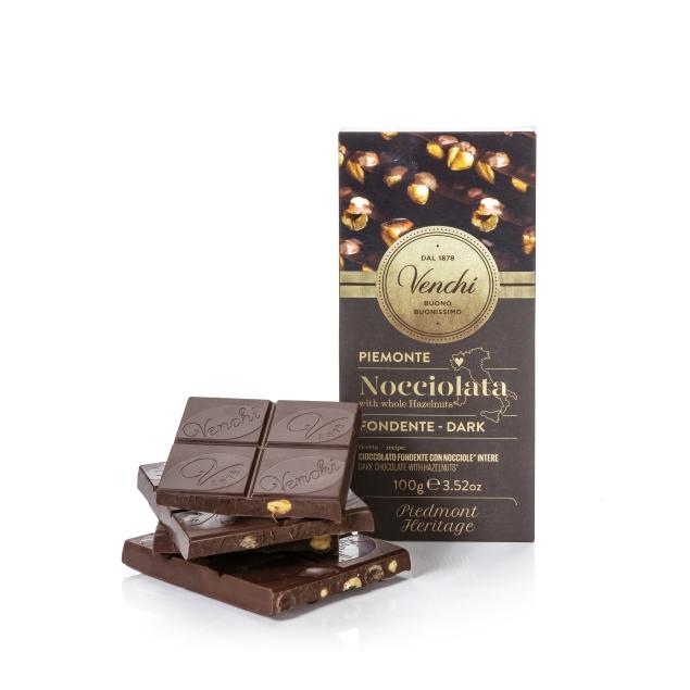 VENCHI DARK CHOCOLATE WITH HAZELNUT BAR