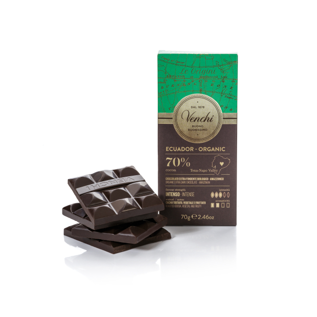 VENCHI ORGANIC ECUADOR DARK CHOCOLATE BAR 70%