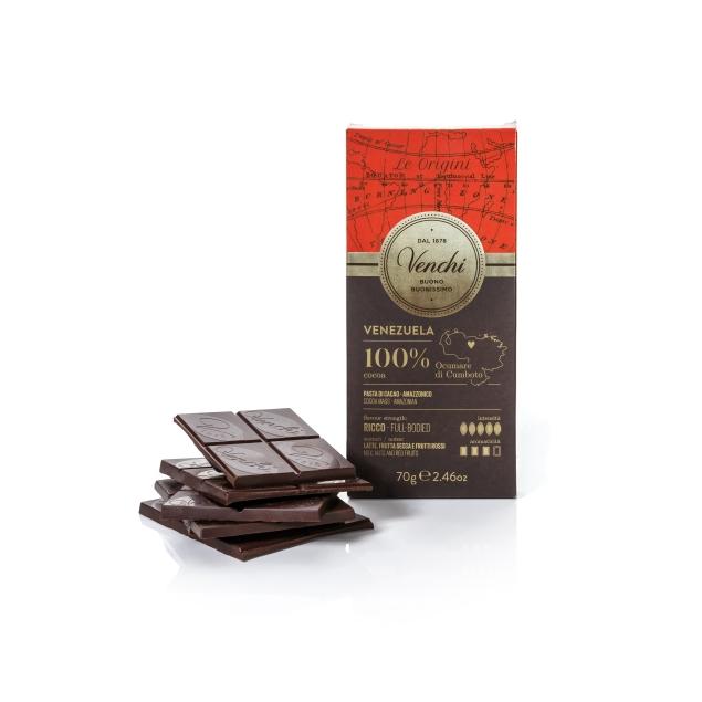 VENCHI VENEZUELA DARK CHOCOLATE BAR 100%