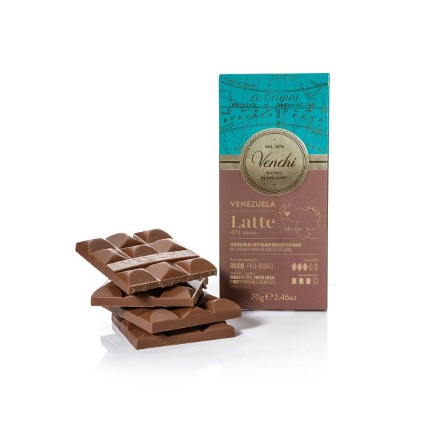 VENCHI VENEZUELA MILK CHOCOLATE BAR 47%