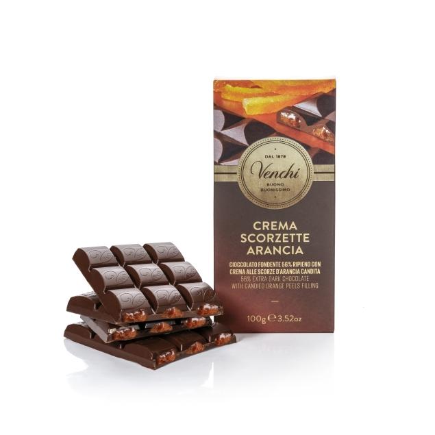 VENCHI ORANGE FILLED CHOCOLATE BAR