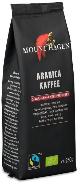MOUNT HAGEN (kawy) KAWA MIELONA BEZKOFEINOWA ARABICA 100% FAIR TRADE BIO 250 g