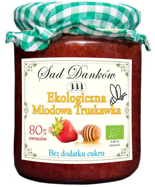 SAD DANKÓW (dżemy, przetwory owocowe) MIODOWA TRUSKAWKA BIO 260 g