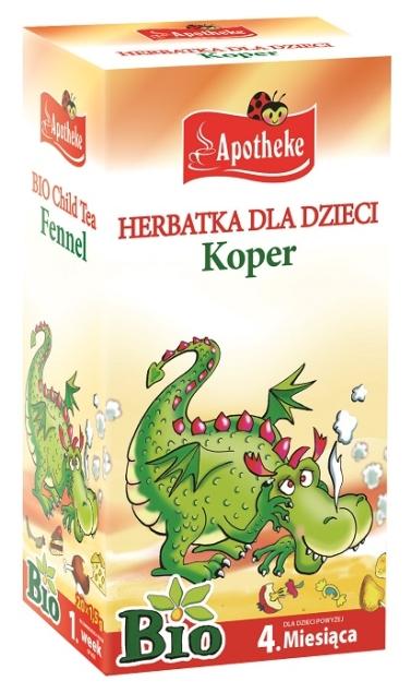 APOTHEKE HERBATKA DLA DZIECI - KOPER BIO 20 x 1,5 g