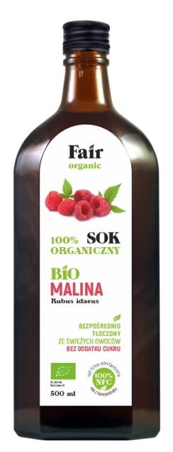 FAIR ORGANIC SOK Z MALIN NFC BIO 500 ml
